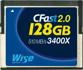 Карта памяти Wise 128GB CFast 2.0 Memory Card 510MB/s (синяя)