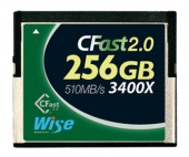 Карта памяти Wise 256GB CFast 2.0 Memory Card 550MB/s (зеленая)