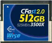 Карта памяти Wise 512GB CFast 2.0 Memory Card 510MB/s (синяя)
