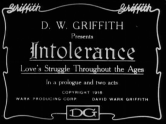 Intolerance opening title