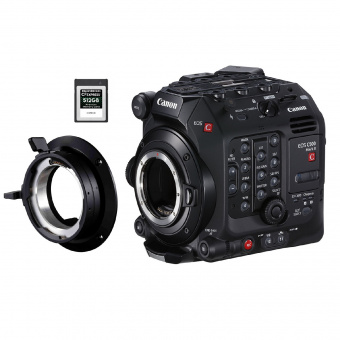 Комплект: камера Canon EOS C500 MarkII, крепление Canon PM-V1 PL Mount, карта памяти Delkin Devices Power CFexpress 512GB