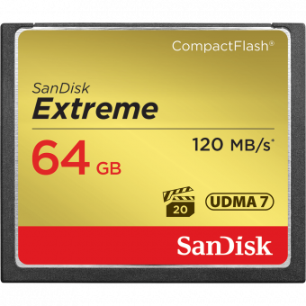 Sandisk CompactFlash 64GB 120MB/s Extreme