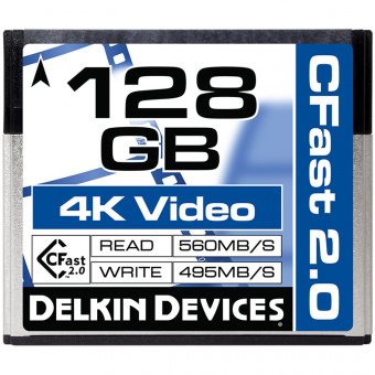 Карта памяти Delkin Devices 128GB Cinema CFast 2.0 560X 4K Video