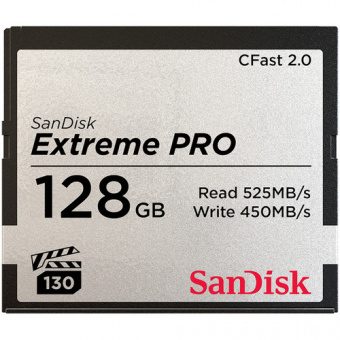 SanDisk CFast 2.0 128GB 525MB/s Extreme Pro