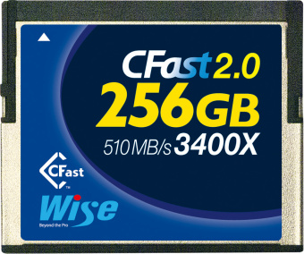 Карта памяти Wise 256GB CFast 2.0 Memory Card 510MB/s (синяя)